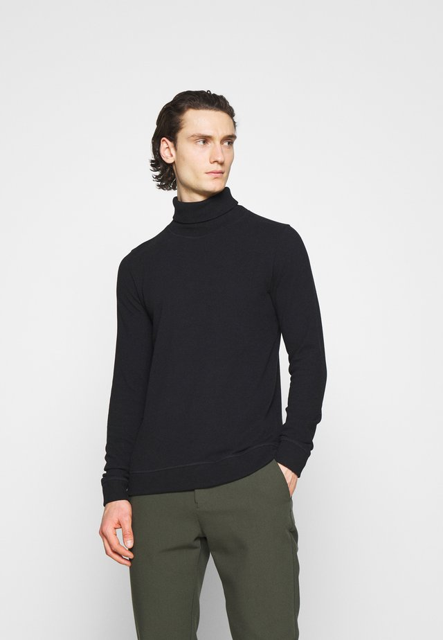 TAB ROLL - Pullover - black