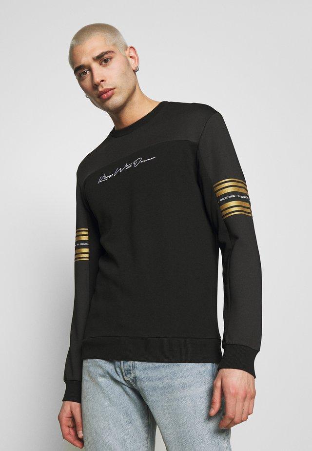 Collegepaita - black/gold