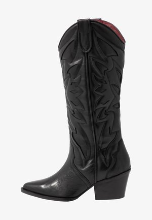 JUKESON - Kowbojki i obuwie motocyklowe - black