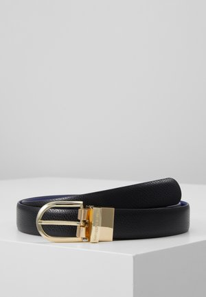 BELTS - Belt - nero/blu elettrico