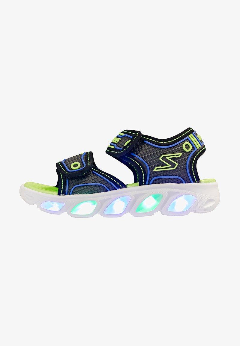 Skechers - HYPNO-SPLASH - Walking sandals - black/blue/lime