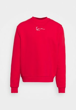 UNISEX SMALL SIGNATURE CREW - Zip-up sweatshirt - red