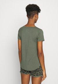 Hollister Co. - EASY CREW  - Basic T-shirt - olive - 2