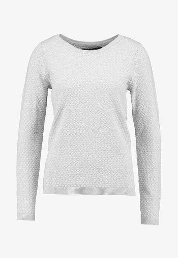 VMCARE STRUCTURE O NECK - Jersey de punto - light grey melange