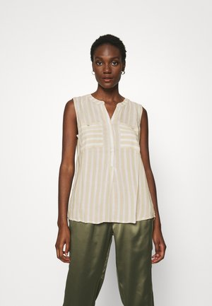 BLOUSE STRIPED - Bluser - beige/offwhite