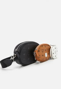 MCM - ESSENTIAL VISETOS ORIGINAL CROSSBODY SMALL UNISEX SET - Across body bag - black/white - 4