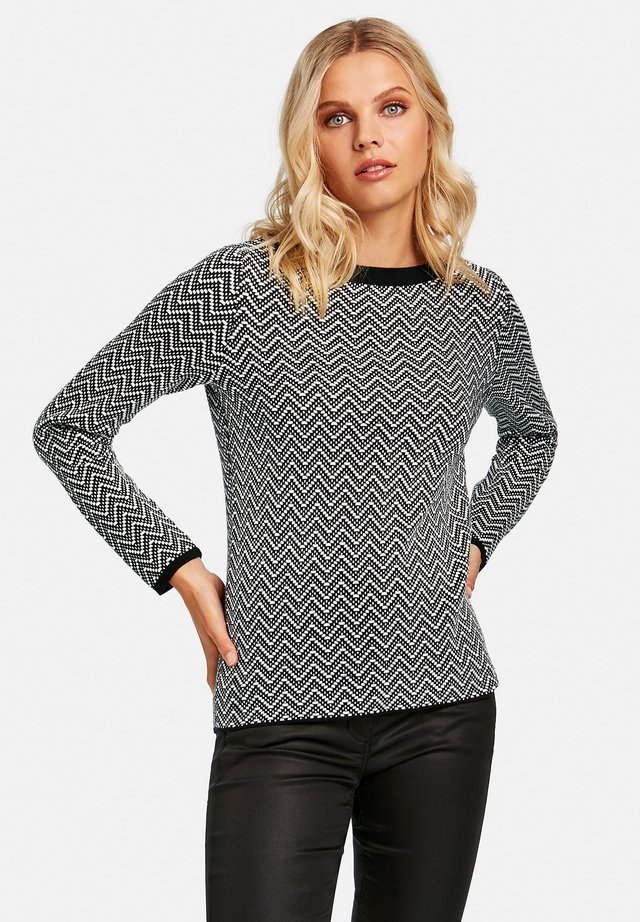Pullover - black gemustert