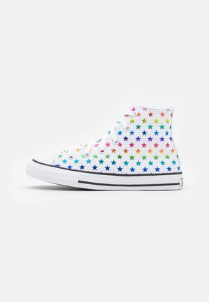 CHUCK TAYLOR ALL STAR ARCHIVE FOIL STAR PRINT UNISEX - Korkeavartiset tennarit - white/black