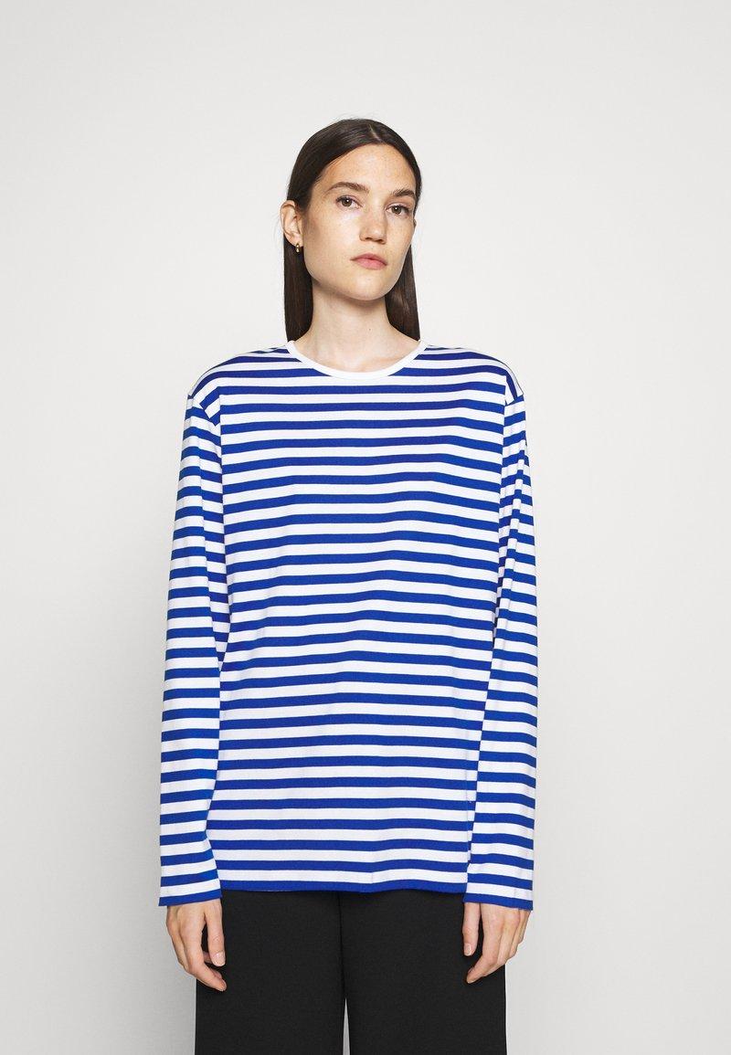 Marimekko - PITKÄHIHA  - Long sleeved top - white/blue
