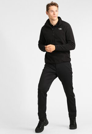 GLACIER 1/4 ZIP - Felpa in pile - black