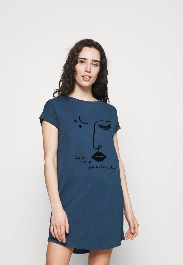 NIGHTIE CAPS NECK - Nightie - insignia blue