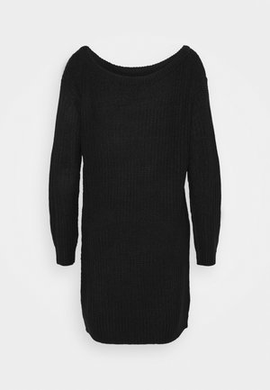 AYVAN OFF SHOULDER JUMPER DRESS - Pletené šaty - black