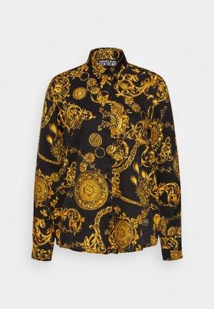 SHIRT - Button-down blouse - black/gold