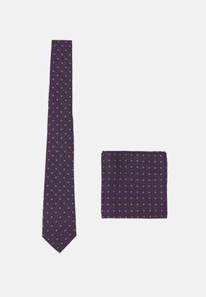 ONSTRAVIS PATTERN TIE SET - Pocket square - dark navy/bordeaux
