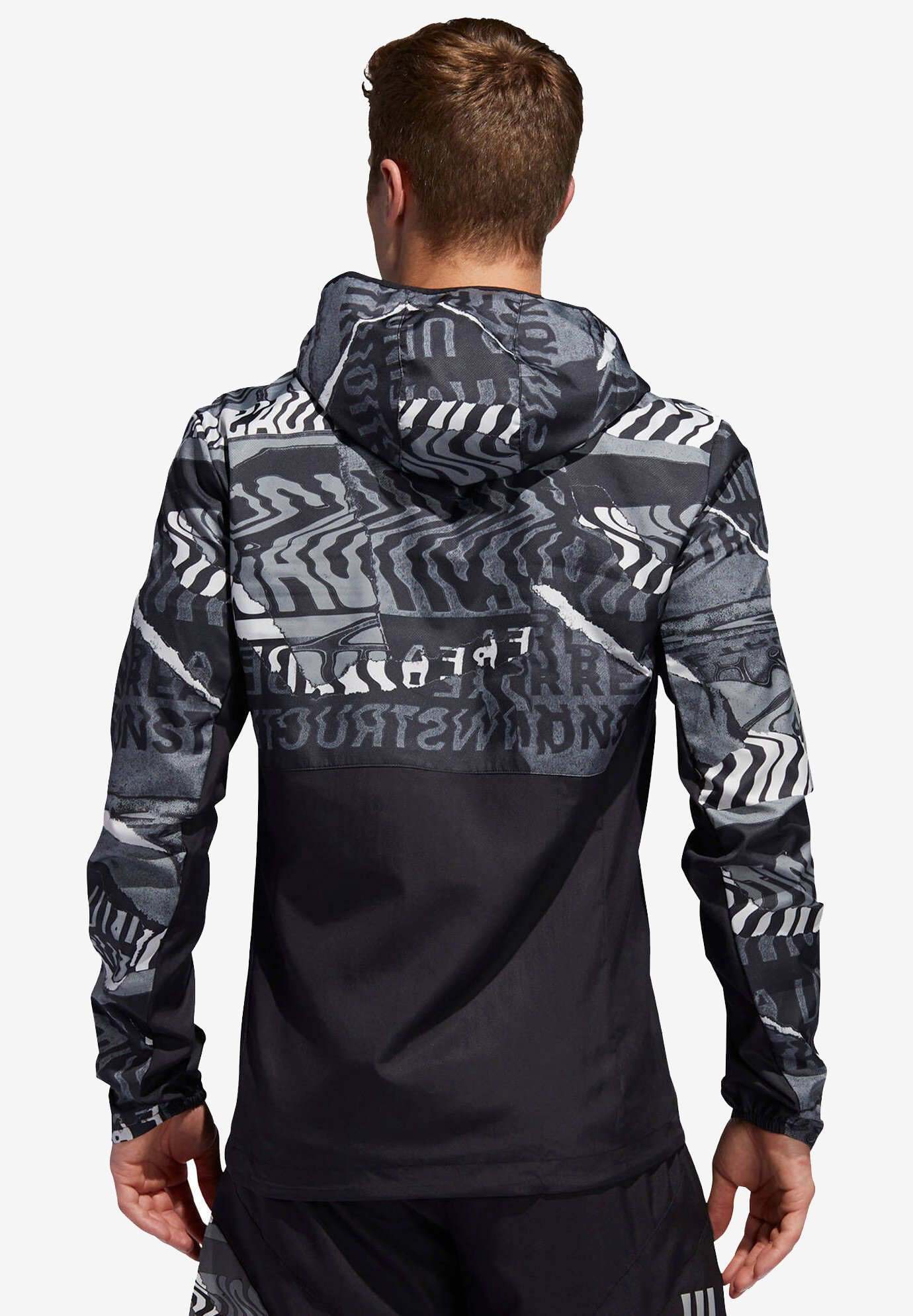 "adidas Performance ADIDAS PERFORMANCE HERREN LAUFJACKE ""OWN THE RUN JACKET"" - Treningsjakke - black/grey"