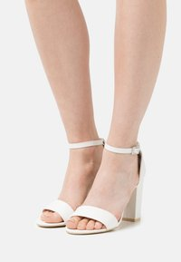Nly by Nelly - BLOCK  - High heeled sandals - white - 0