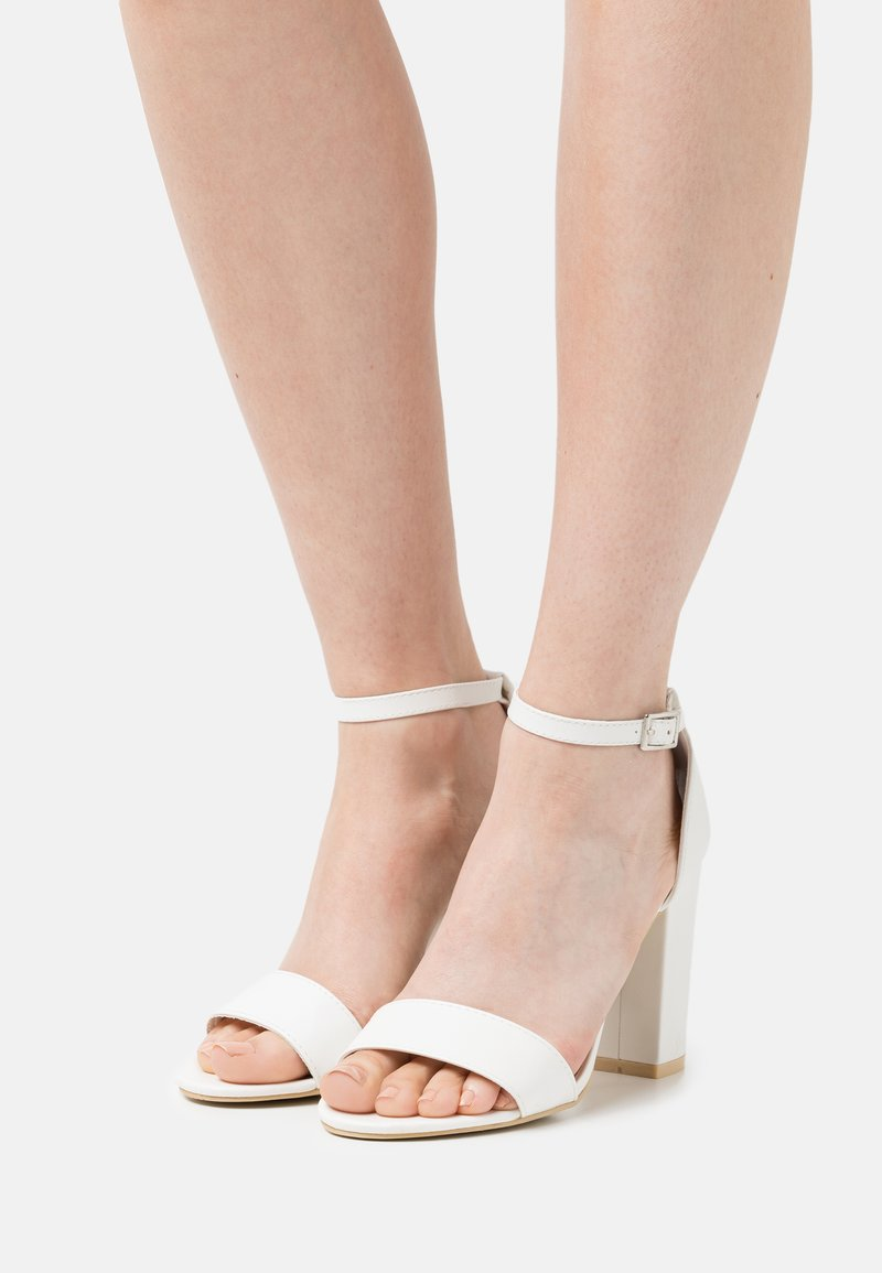 Nly by Nelly - BLOCK  - High heeled sandals - white