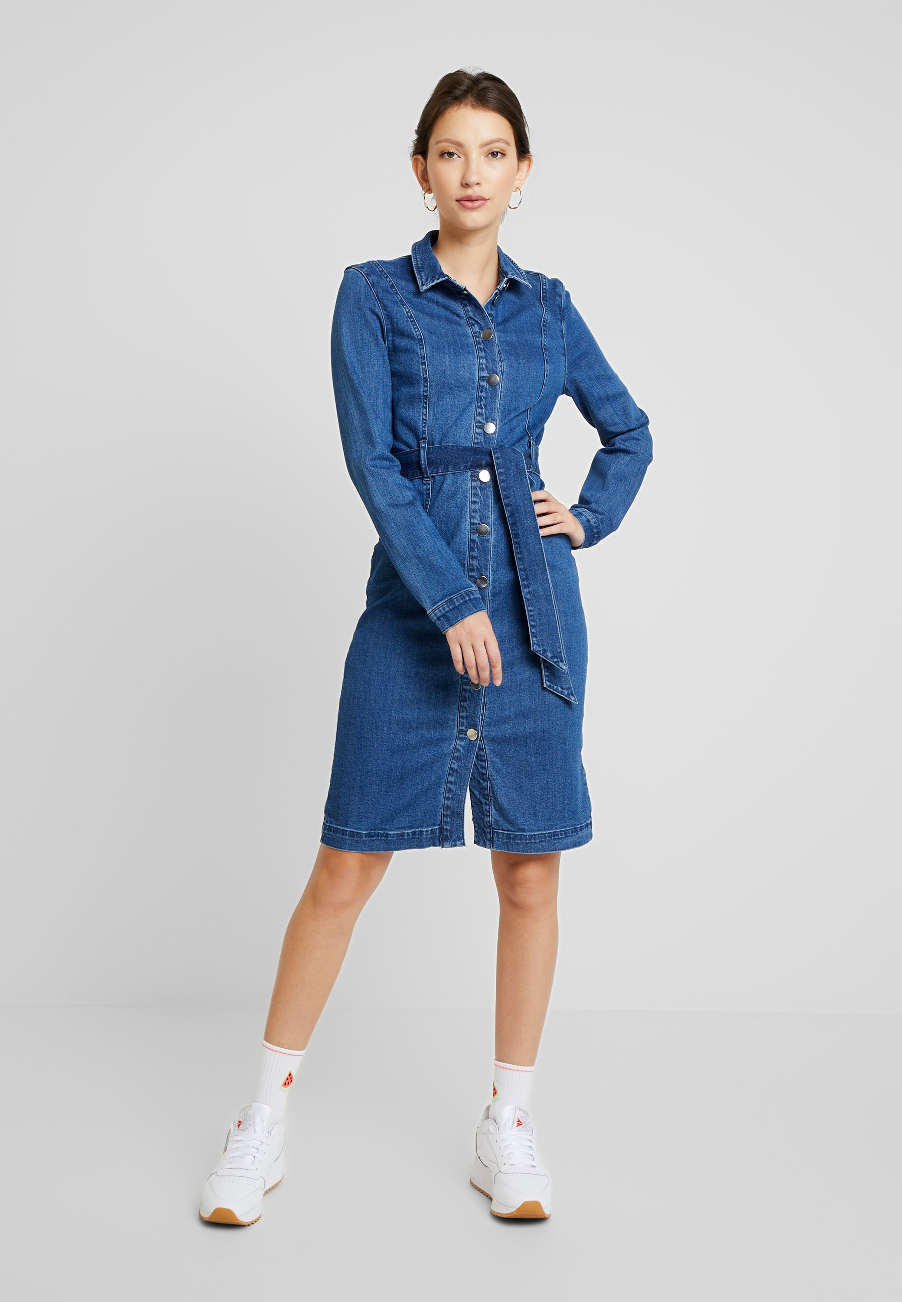 Women VMKATE SHIRT DRESS - Denim dress