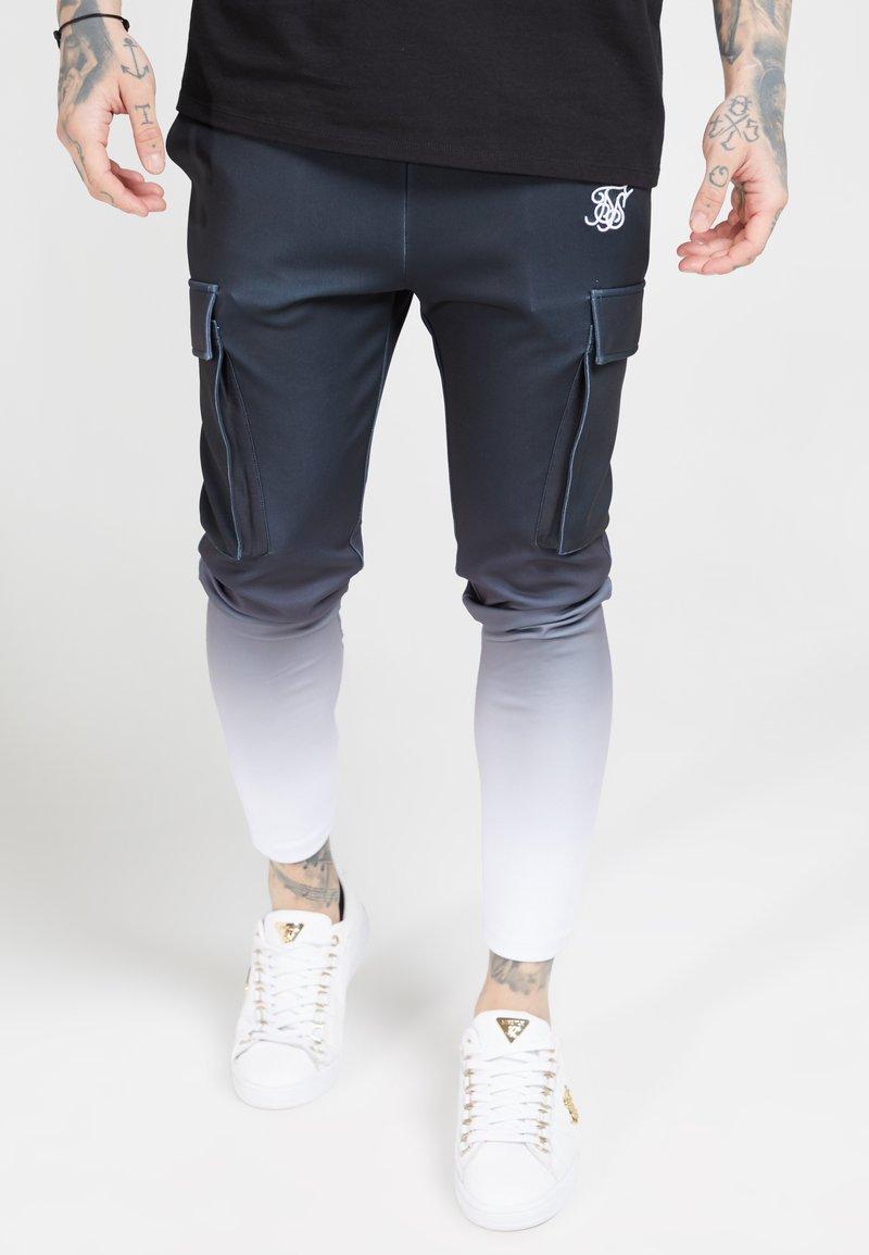 SIKSILK - POLY ATHLETE - Pantaloni cargo - black/white