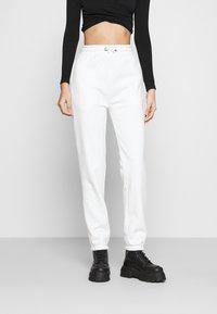 Even&Odd - High Waist Loose Fit Joggers - Pantalon de survêtement - off-white - 0