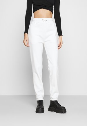 High Waist Loose Fit Joggers - Joggebukse - off-white