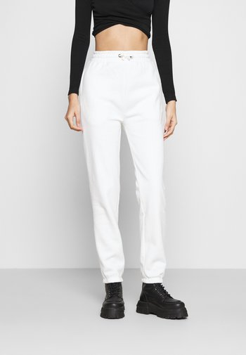 High Waist Loose Fit Joggers - Tracksuit bottoms - off-white
