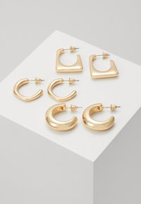 3 PACK - Pendientes - gold-coloured
