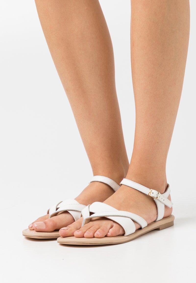 Anna Field Wide Fit - T-bar sandals - white