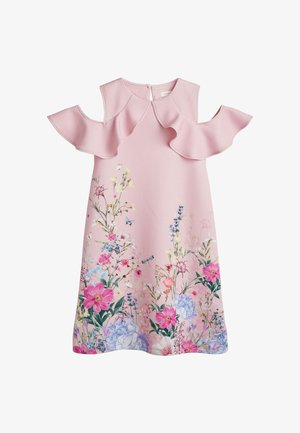 BERRY FLORAL PONTE  - Day dress - light pink