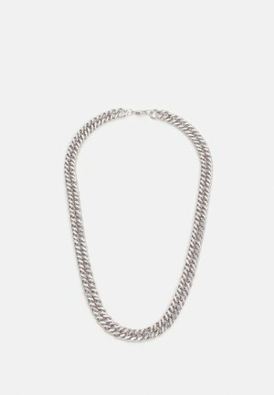 WIDE FLAT CHAIN NECKLACE - Necklace - silver-coloured