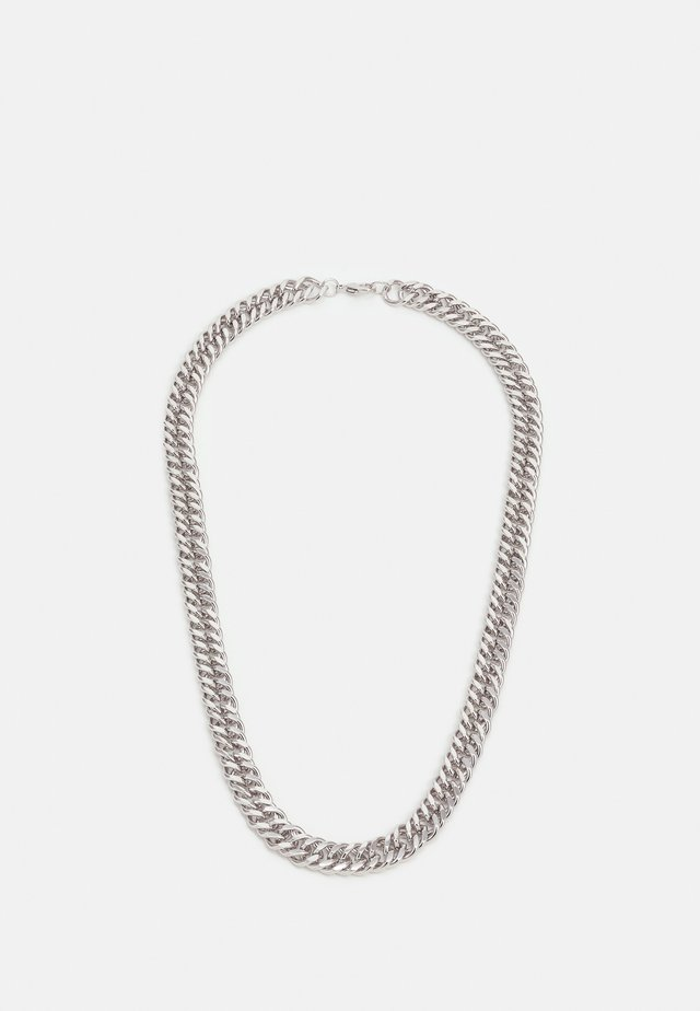 WIDE FLAT CHAIN NECKLACE - Halsband - silver-coloured