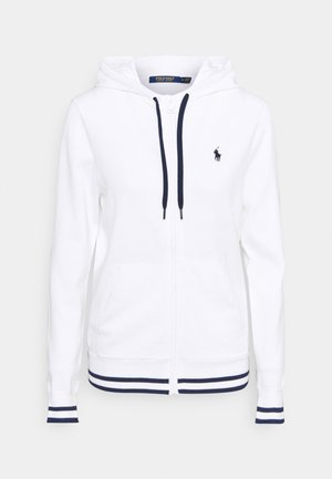 FULL ZIP LONG SLEEVE - veste en sweat zippée - pure white/french navy