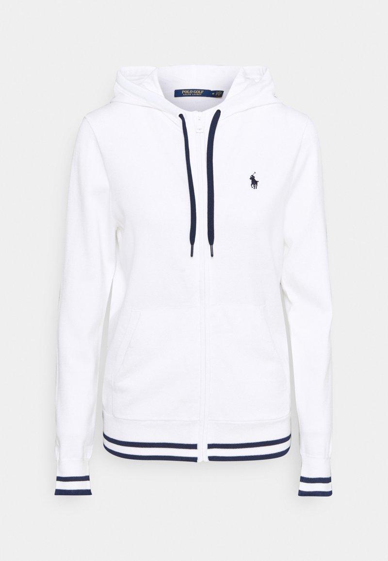 Polo Ralph Lauren Golf - FULL ZIP LONG SLEEVE - Zip-up hoodie - pure white/french navy