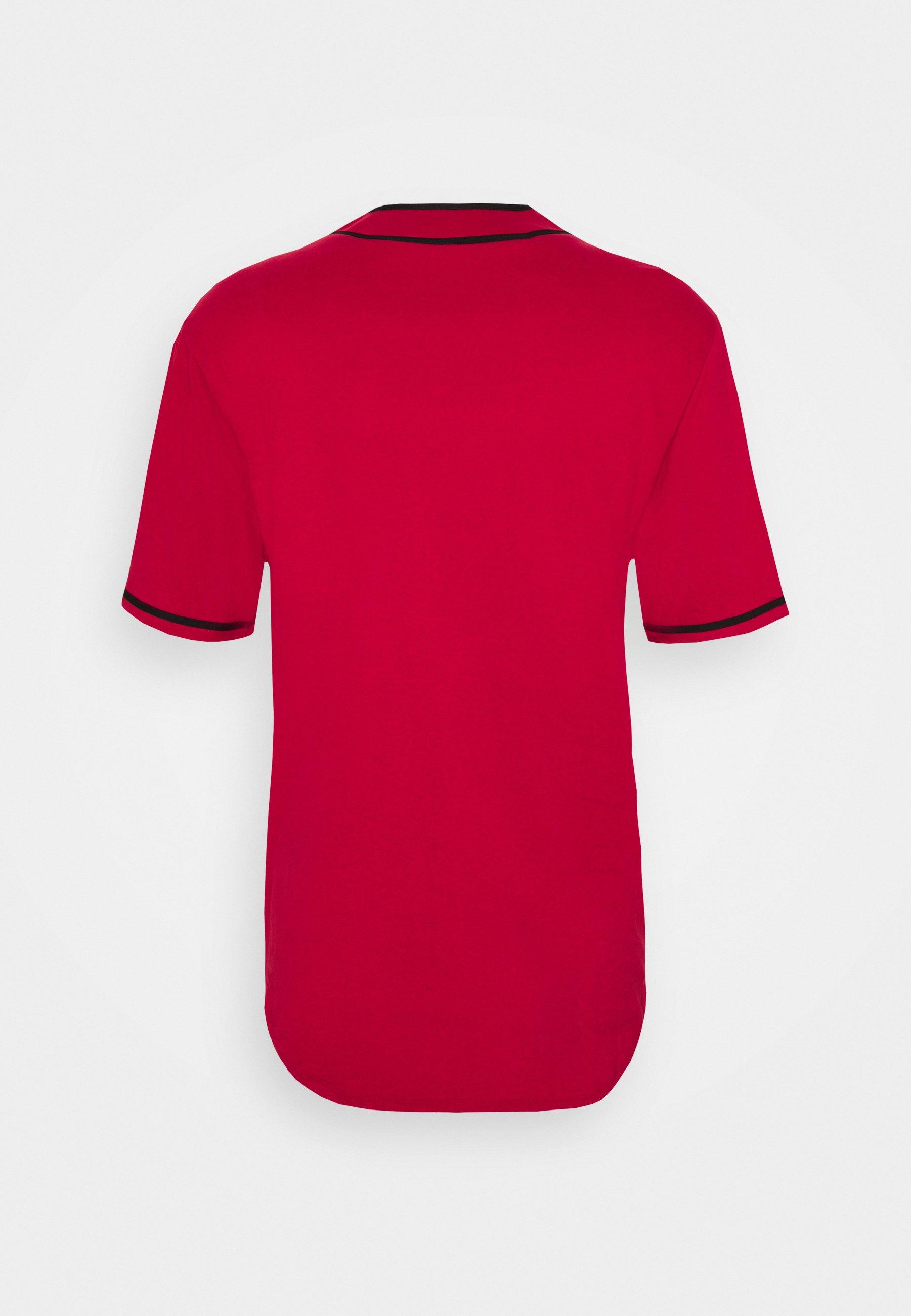 Mitchell & Ness NBA CHICAGO BULLS BUTTON FRONT - T-shirt imprimé - scarlet