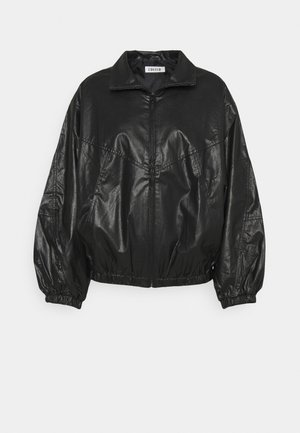 KORI JACKET - Faux leather jacket - schwarz