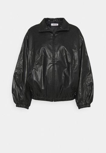 KORI JACKET - Faux leather jacket - schwarz