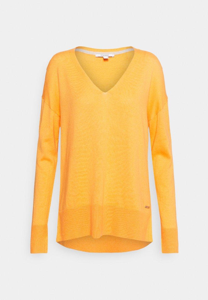 Esprit - VNECK  - Pullover - golden orange
