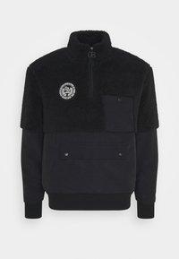 Russell Athletic Eagle R - BERNARD MODERN HALF ZIP JACKET UNISEX - Summer jacket - black - 0