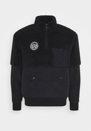 BERNARD MODERN HALF ZIP JACKET UNISEX - Summer jacket - black