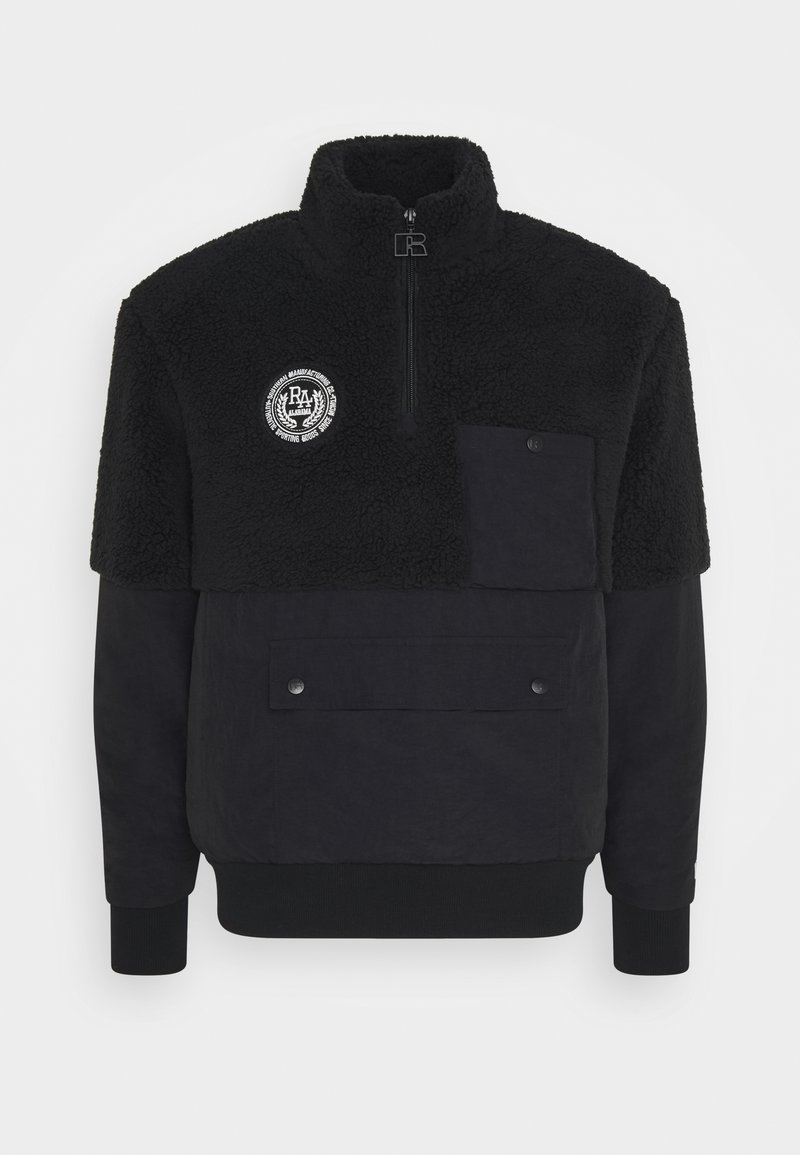 Russell Athletic Eagle R - BERNARD MODERN HALF ZIP JACKET UNISEX - Summer jacket - black