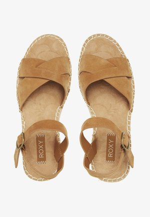 MAYA  - Platform sandals - chestnut brown