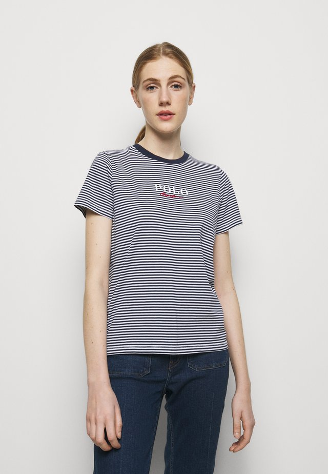 Camiseta estampada - cruise navy/white