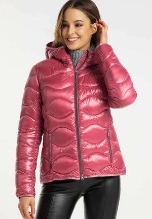 MIT KAPUZE - Winter jacket - dark rose