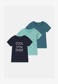 Name it - NBMBORRIS 3 PACK - T-shirt con stampa - blue tint - 0