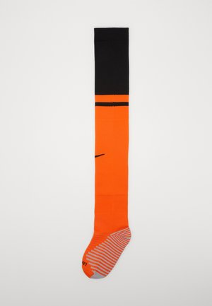NIEDERLANDE - Knee high socks - safety orange/black/black
