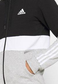 adidas Performance - COLORBLOCK FULL ZIP ESSENTIALS - Zip-up sweatshirt - black/white - 5