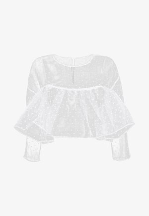 THE CROPPED BABYDOLL - Blouse - white