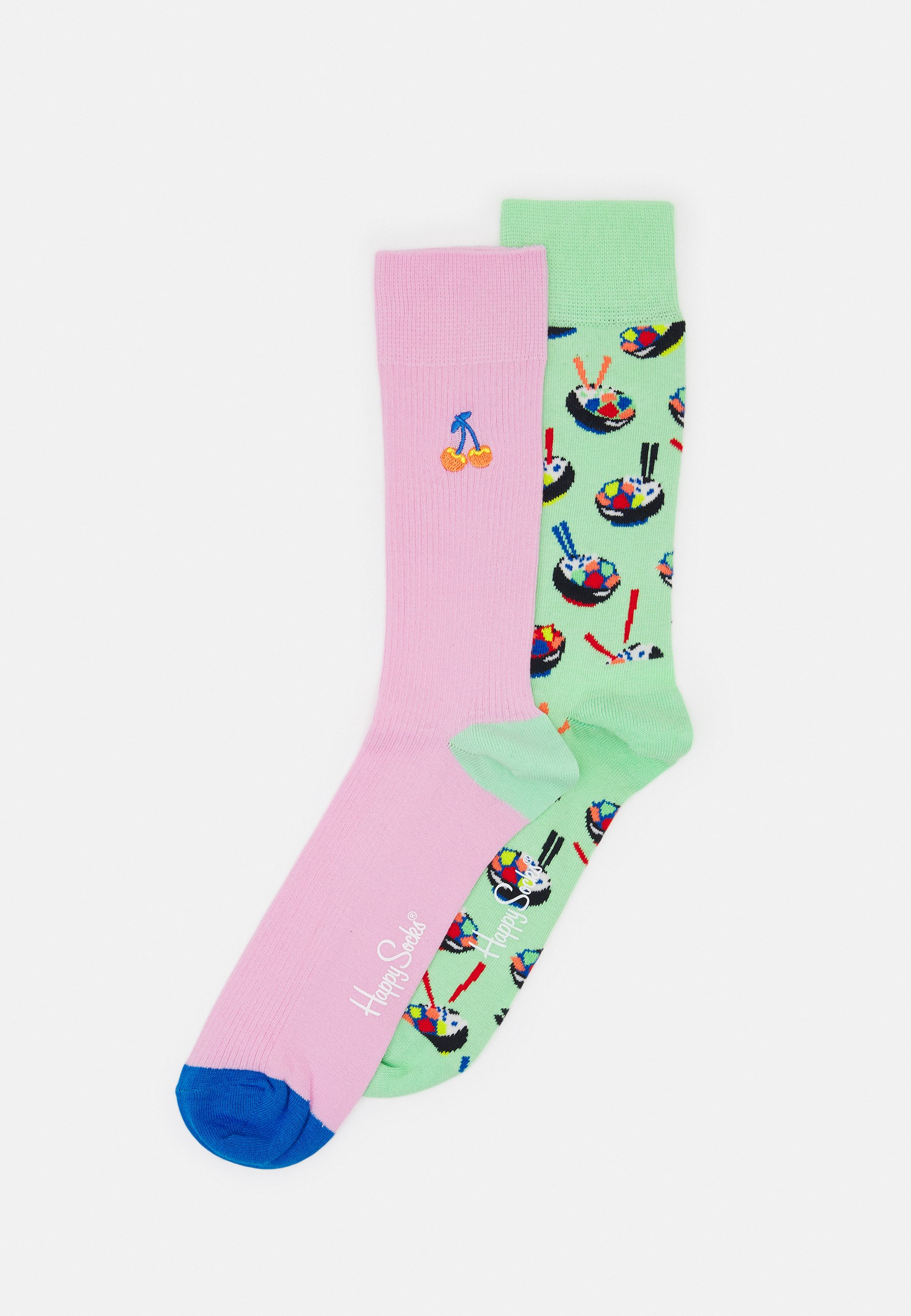 Women POKÉ BOWL SOCK EMBROIDERY CHERRY SOCK UNISEX 2 PACK - Socks