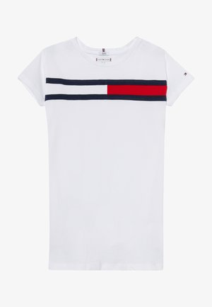 FLAG DRESS  - Žerzejové šaty - white