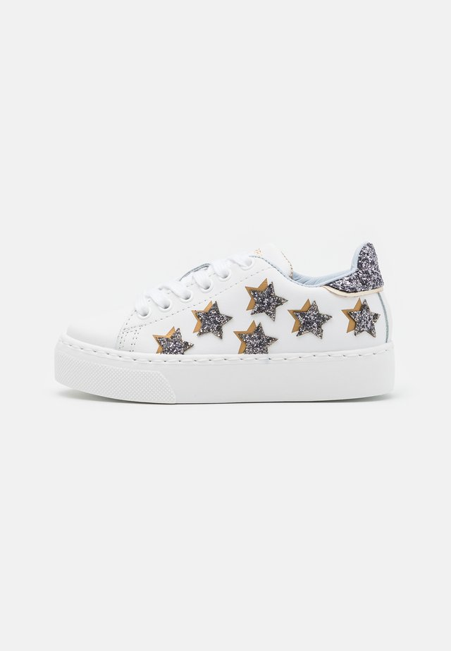 Sneakers laag - bianco/argento/oro